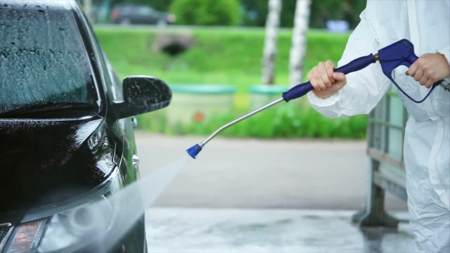 Self service spray car wash zanflare battery charger